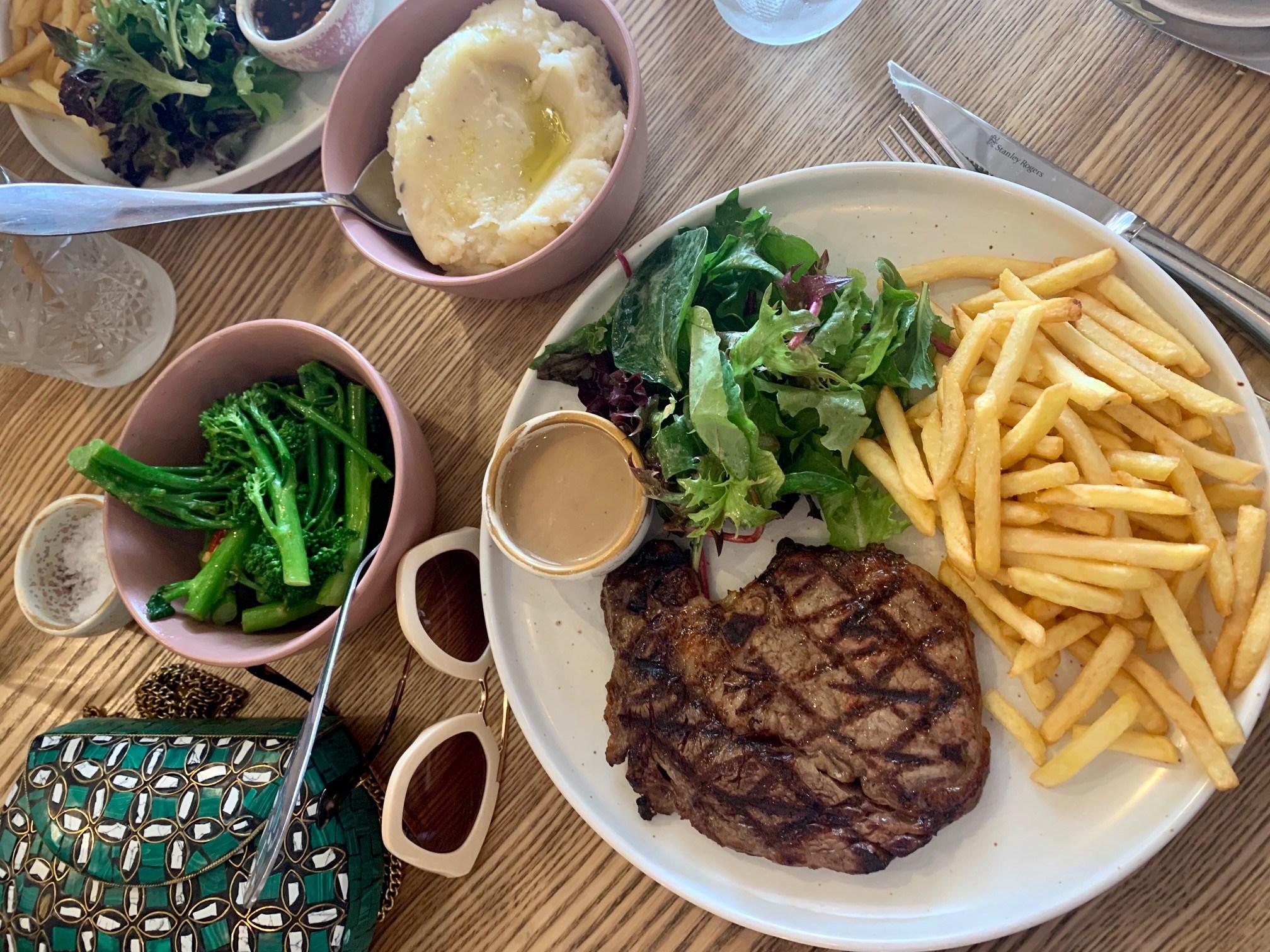 Delicious steak at Bakehouse Steakhouse, Ipswich